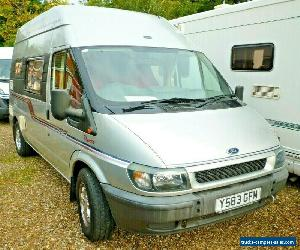 2001 AUTO SLEEPER FORD TRANSIT MOTORHOME DUETTO TURBO DIESEL MANUAL for Sale