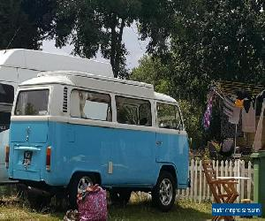 vw t2 bay campervan. 1600 aircooled. Registered 1973. Blue in colour for Sale