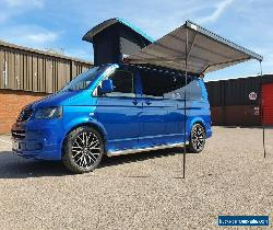 VW T5 LWB Campervan blue 4 berth 5 seats, new engine, air con, pop top + extras  for Sale