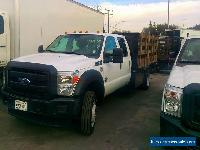 2014 &2013 Ford F550 Stakebed Crew Cab Trucks Diesel 18000# GVWR with Liftgate for Sale
