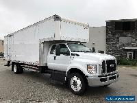 2017 Ford F750 Box Truck 24ft Extra Super Crew Cab Moving Van Body 25,999 # GVWR for Sale