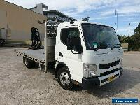 2015 mitsubishi canter fuso automatic 515 tray hiab 017t crane for Sale
