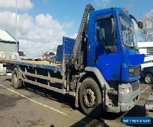 DAF LF55 26' flatbed Lorry with HIAB crane for Sale