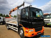 2006 DAF CF65.220 4X2 FLAT BED WITH ATLAS TEREX 92.2 REMOTE CONTROLLED CRANE  for Sale