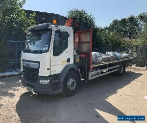 2015 DAF LF 250 Euro 6 18 Ton Flat bed with Palfinger PK30001K crane  for Sale