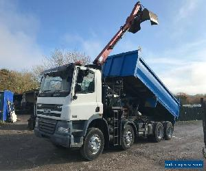 DAF 85 360 TIPPER GRAB TRUCK 2007 8 WHEEL TIPPER 1244 HMF CRANE WITH GRAB BUCKET for Sale