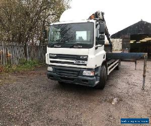 Daf CF75 310 with Cormach crane for Sale