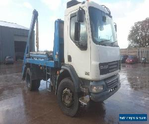DAF 2007 18 Tonne skip lorry skip truck skip loader telescopic arm equipment for Sale