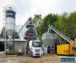 ELKON 120 Concrete Batching Plant + 2x Mercedes Concrete Mixer Trucks for Sale