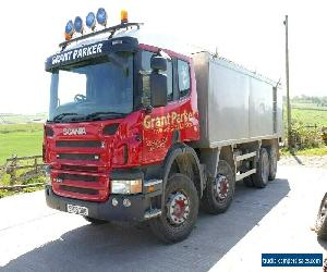 SCANIA  P380  8X4  TIPPER    SLEEPER CABIN 2006  ALLOY BODY TARMAC SPEC  for Sale