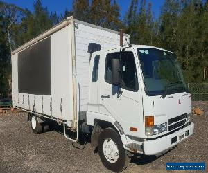2004 Mitsubishi fighter FK600 diesel turbo pantech and curtainsider truck for Sale