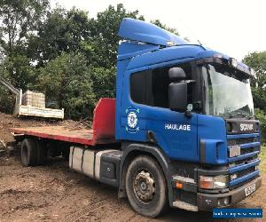scania p94 (53) 4x2 flatbed manual sleeper cab lorry truck for Sale