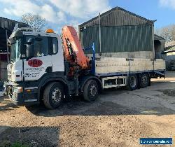 Scania P340 cheesewedge / beavertail plant / crane lorry + PM36 crane hiab, yr07 for Sale